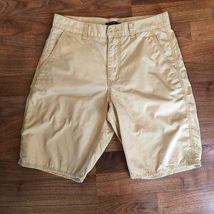 John Varvatos Star USA Tan Khaki Cotton Shorts 32